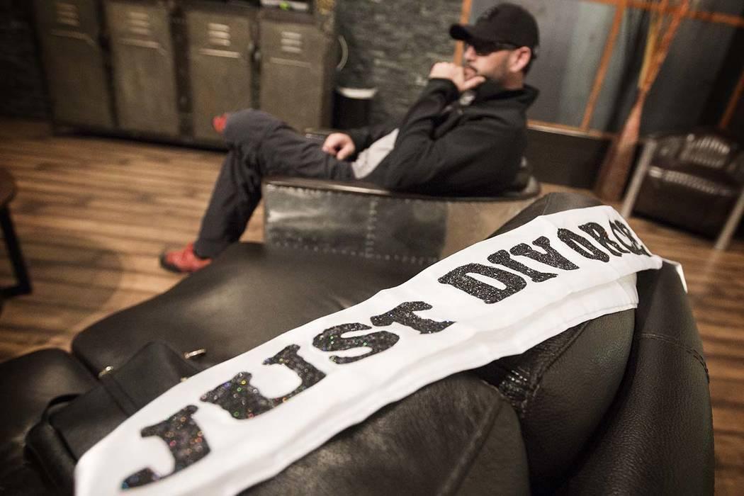 Machine Guns Vegas owner Genghis Cohen sits in the VIP room at the indoor shooting range at 3501 Aldeberan Avenue on Jan. 29, 2015. (Jeff Scheid/Las Vegas Review-Journal)