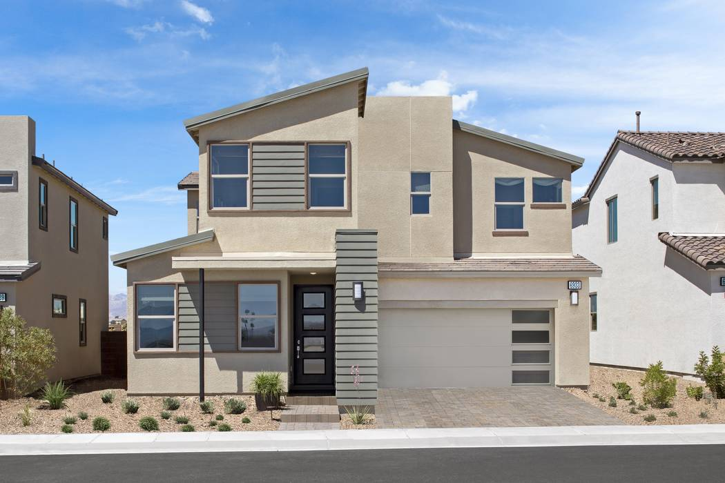 Pictured is the Plan Two model home at Indigo, one of three new neighborhoods by Pardee Homes in North Las Vegas. (Pardee Homes)