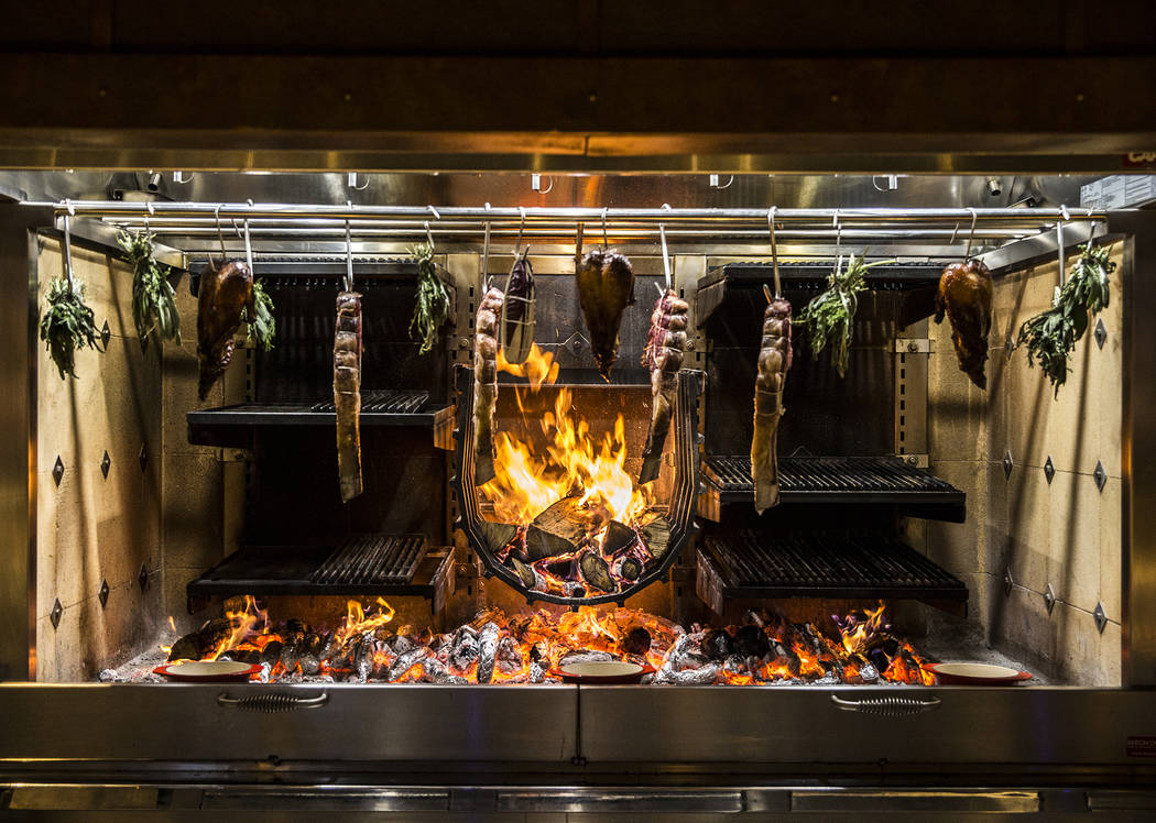 The open-hearth fire at Eataly on Wednesday, Feb. 6, 2019, at Park MGM, in Las Vegas. (Benjamin Hager/Las Vegas Review-Journal) @BenjaminHphoto