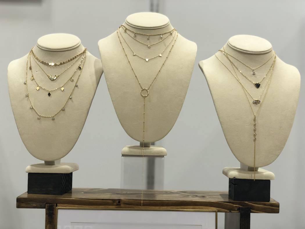 Layered necklaces by Set & Stones. (Janna Karel Las Vegas Review-Journal)
