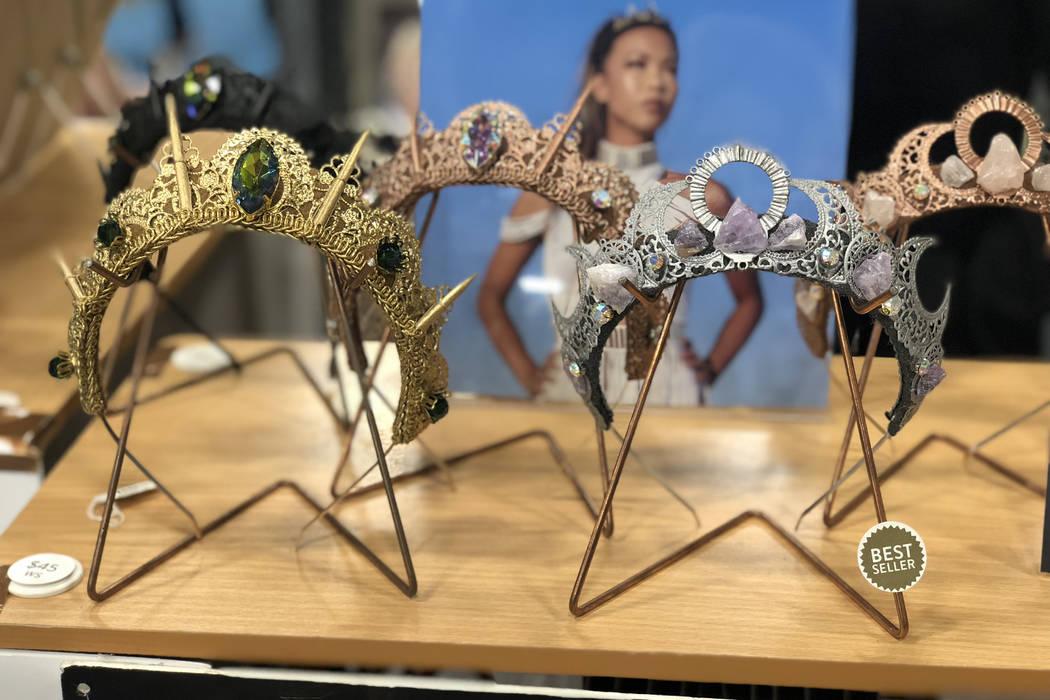 Loschy festival-wear crowns. (Janna Karel Las Vegas Review-Journal)