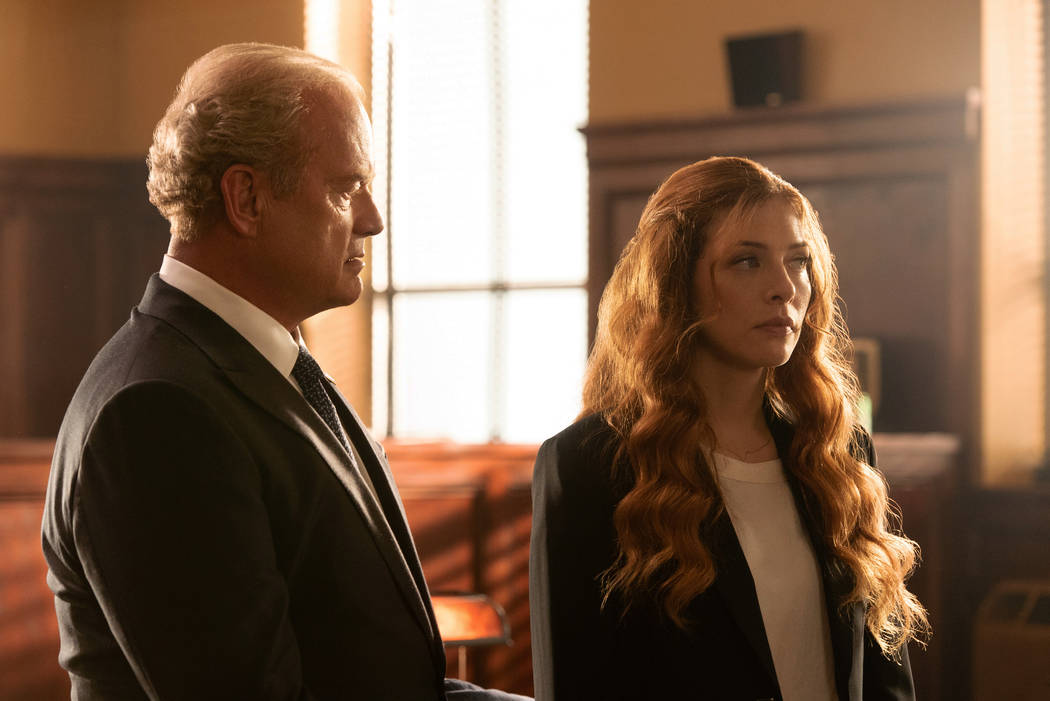 """PROVEN INNOCENT: L-R: Kelsey Grammer and Rachelle Lefevre in the """"Pilot"""" series premiere episode of PROVEN INNOCENT airing Friday, Feb. 15 (9:00-10:00 PM ET/PT) on FOX. 2019 Fox Broadcas ..."""