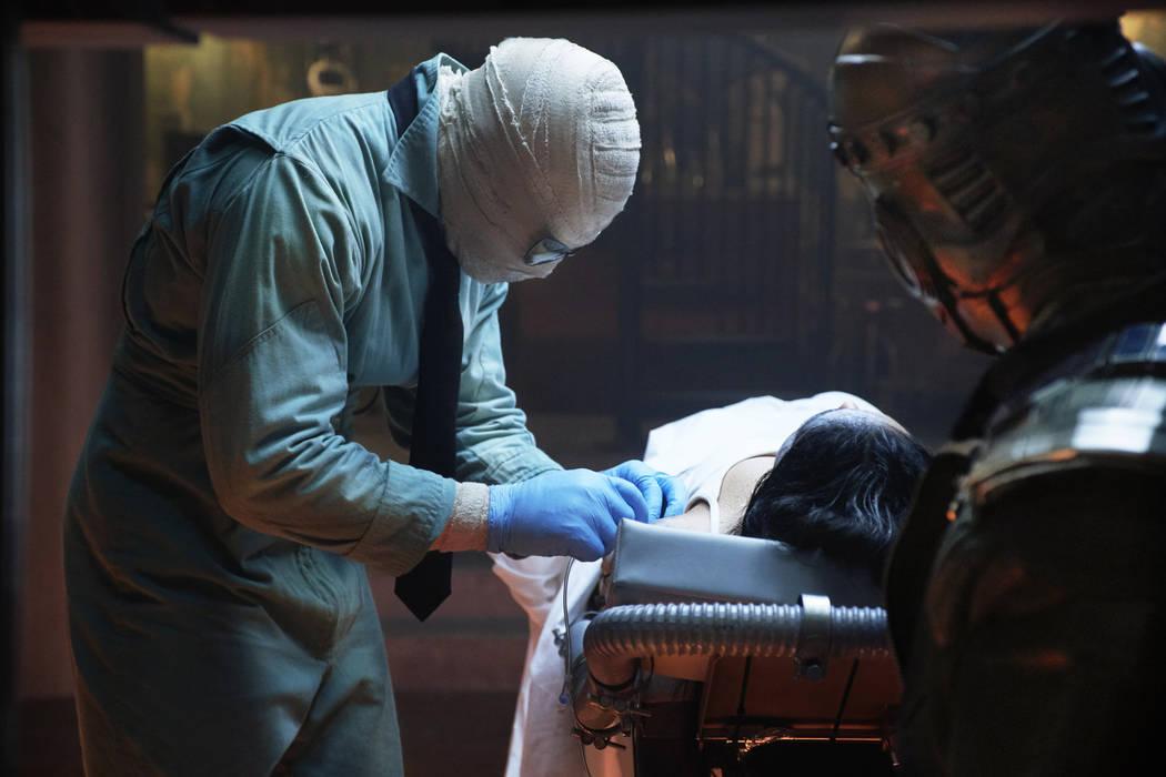 "Negative Man (Matt Bomer), left, and Robotman (Brendan Fraser) are featured in ""Doom Patrol."" (Christos Kalohoridis/Warner Bros. Entertainment )"