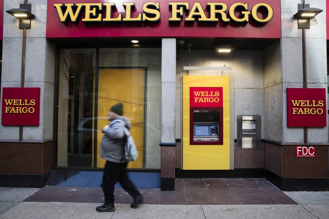 A Wells Fargo bank location in Philadelphia on Nov. 29, 2018. (AP Photo/Matt Rourke, File)