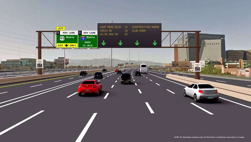 The first six full-color digital signs along U.S. Highway 95 and Interstate 15 are scheduled to go online March 6. (Contributed)