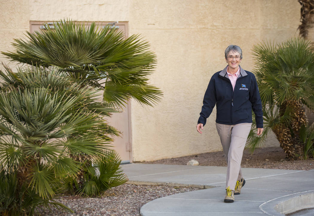 Secretary of the Air Force Heather Wilson during her visit to Nellis Air Force Base in Las Vegas on Friday, Feb. 8, 2019. (Chase Stevens/Las Vegas Review-Journal) @csstevensphoto