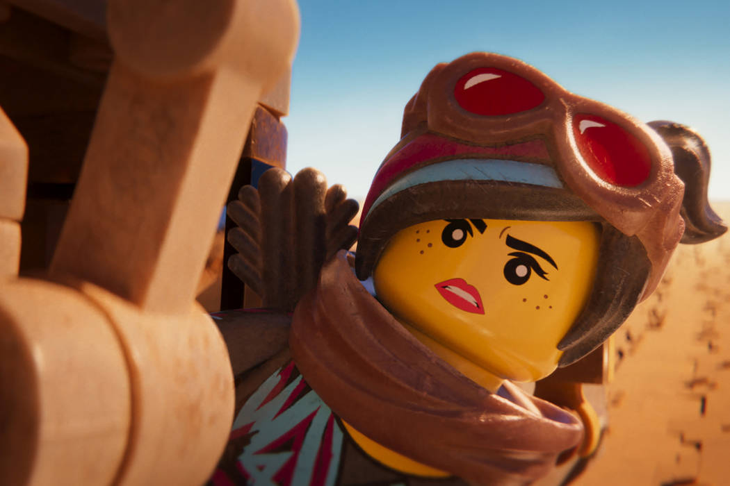 "This image released by Warner Bros. Pictures shows the character Lucy/Wyldstyle, voiced by Elizabeth Banks, in a scene from ""The Lego Movie 2: The Second Part."" (Warner Bros. Pictures vi ..."
