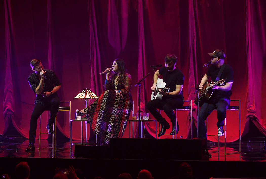 Lady Antebellum performs at the Pearl at the Palms on Friday, Feb. 8, 2019, in Las Vegas. (Denise Truscello)