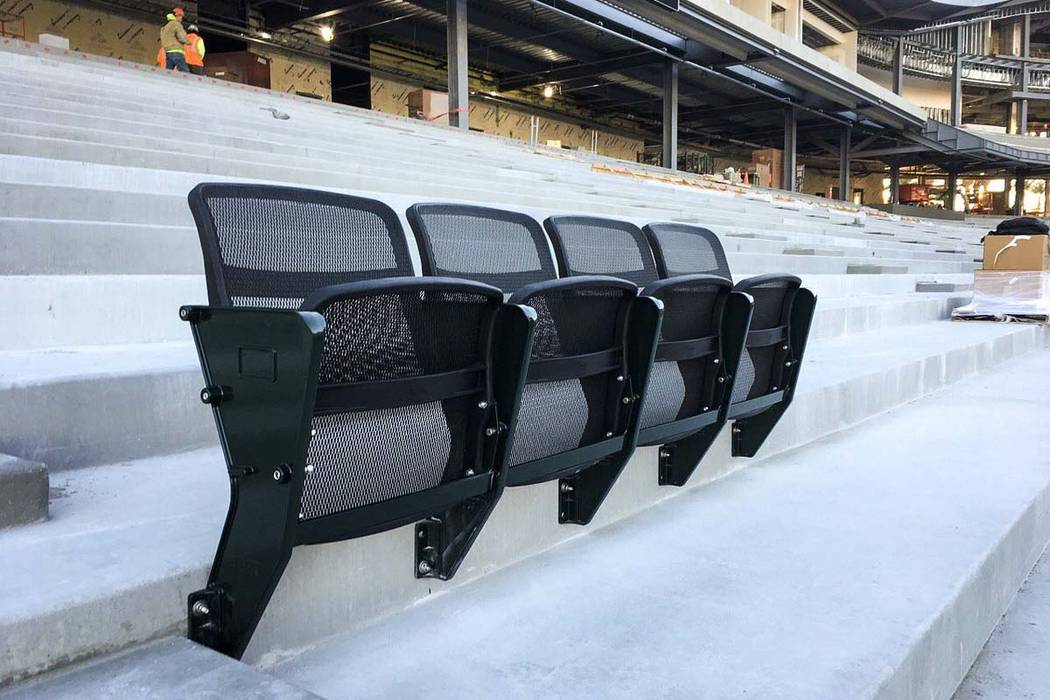 All of the seats being installed at the new Las Vegas Ballpark will be 4Topps AirFlow individual mesh seats. (Las Vegas Ballpark/Twitter)