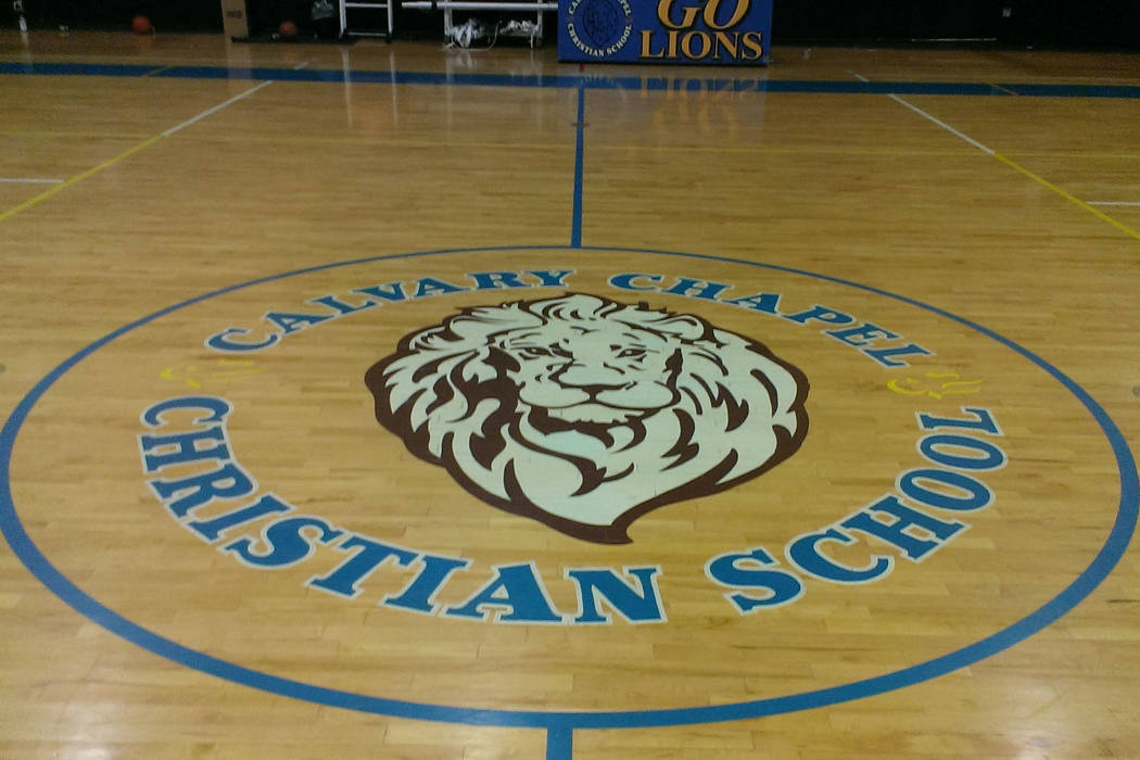 The basketball court at Calvary Chapel, where Dave Bliss was recently hired as the athletic director and boys basketball coach, is seen on Wednesday, Aug. 2, 2017. (Jonathan Saxon/Las Vegas Review ...