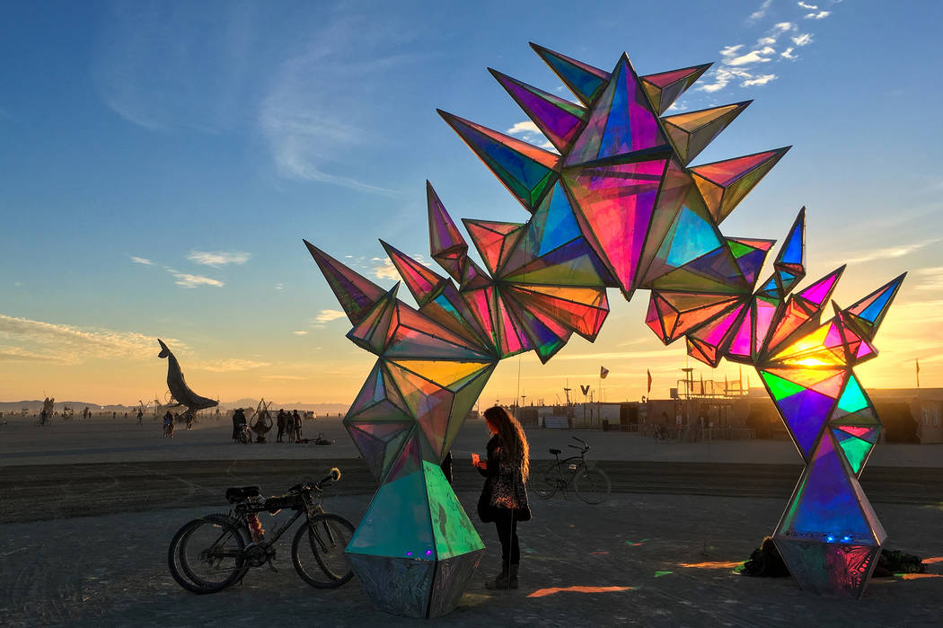 Art pieces from Burning Man will be onoutdoor display at Area15. The Vox Agency