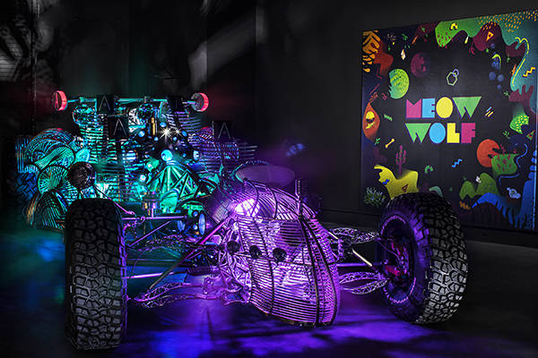 Henry Chang's art car will sit in The Spine at Area15. The Vox Agency