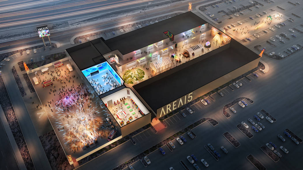 A rendering of Area15. The Vox Agency