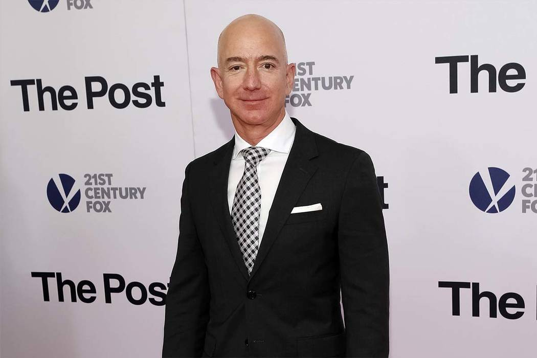 """In this Dec. 14, 2017, file photo, Jeff Bezos attends the premiere of """"The Post"""" at The Newseum in Washington. Private investigators working for Bezos have determined the brother of the Amazon CEO ..."""