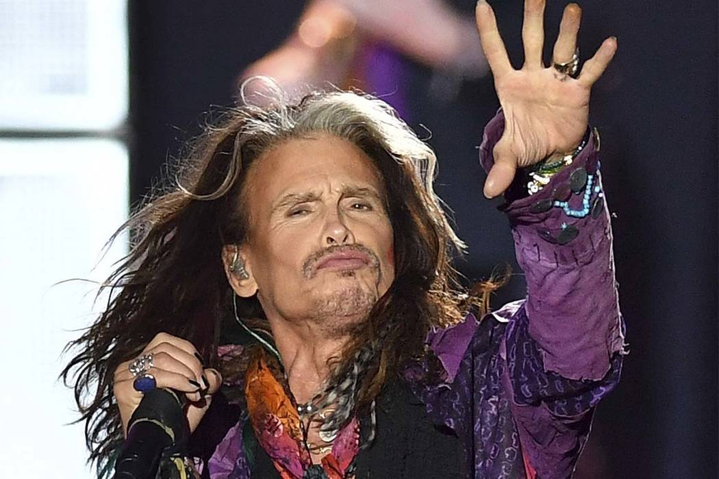 Singer Steven Tyler performs during a May concert of Aerosmith at the Koenigsplatz in Munich, Germany. (Lukas Barth/AP)