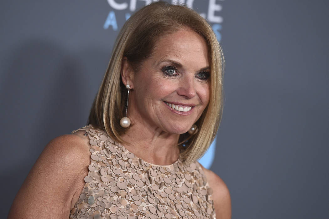 Katie Couric poses in the press room at the 23rd annual Critics' Choice Awards in Santa Monica, Calif. on Jan. 11, 2018. Couric is writing a memoir, one she is counting on to live up to its title: ...