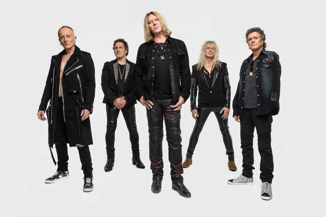 Def Leppard opens its 12-show series at Zappos Theater at Planet Hollywood on Aug. 14. (Kevin Nixon)