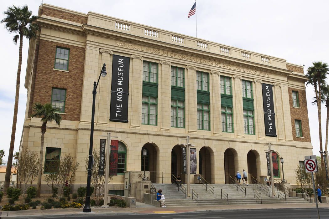 The Mob Museum at 300 Stewart Ave. on Tuesday, March 26, 2013. The building was originally the U.S. Federal Court House and Post Office. (Jeff Scheid/Las Vegas Review-Journal)