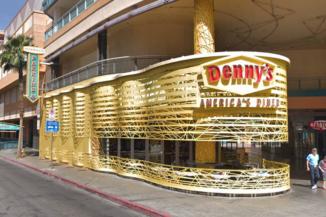 Denny's 450 Fremont St. in downtown Las Vegas. (Google Street View)