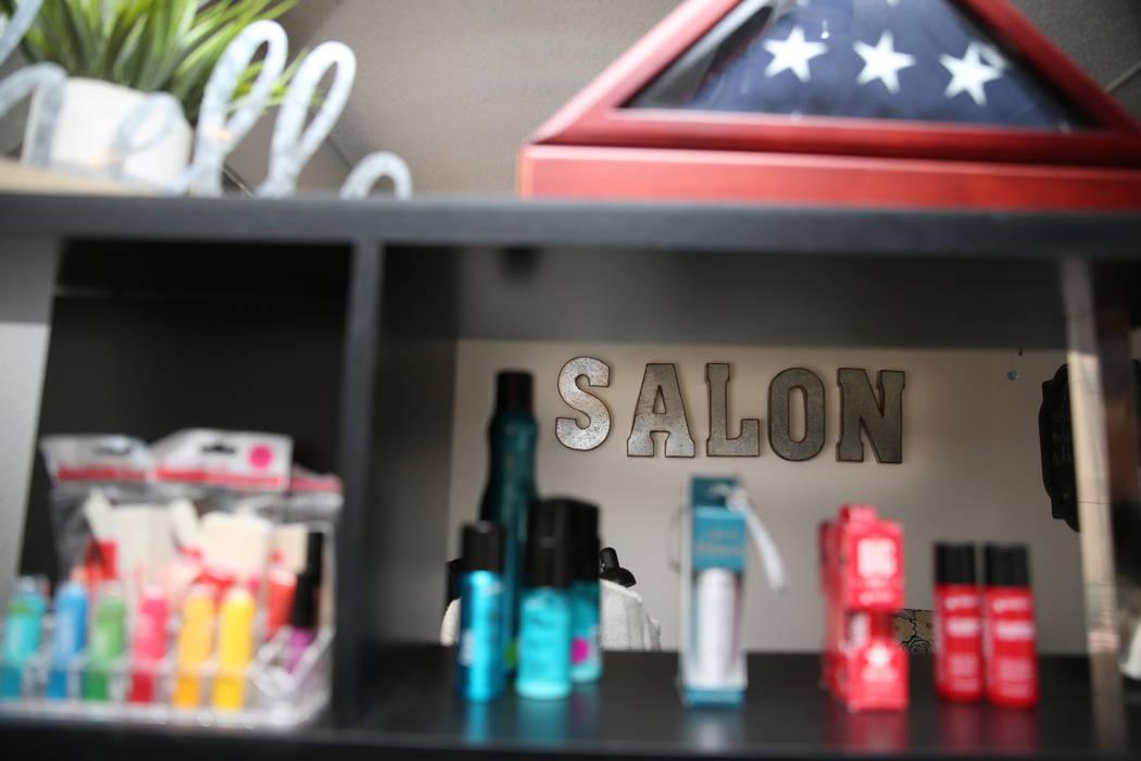 Inside the T.H.E. Salon at the Veterans Village in Las Vegas, Wednesday, Feb. 13, 2019. (Erik Verduzco/Las Vegas Review-Journal) @Erik_Verduzco