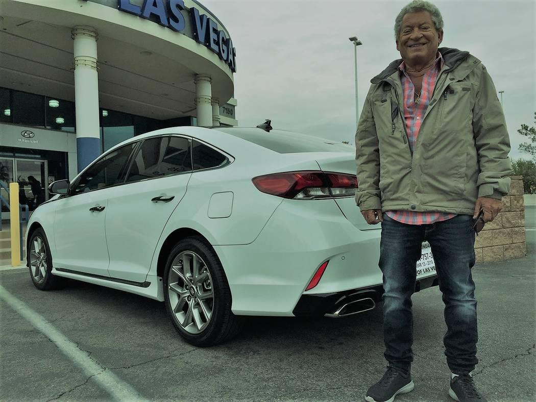 Retired New York school teacher Jeffrey Pollack purchased his sixth Hyundai recently from Hyundai of Las Vegas at 7150 W. Sahara Ave. His latest model is a 2019 Hyundai Sonata Limited Turbo. (Hyun ...