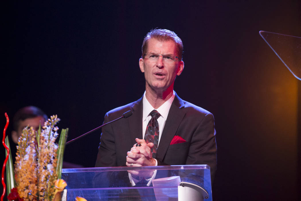 Steve Stallworth, general manager of the South Point Arena, during the annual Best of Nevada Preps Awards at the Venetian hotel-casino on Saturday, June 3, 2017 in Las Vegas. Erik Verduzco/Las Veg ...