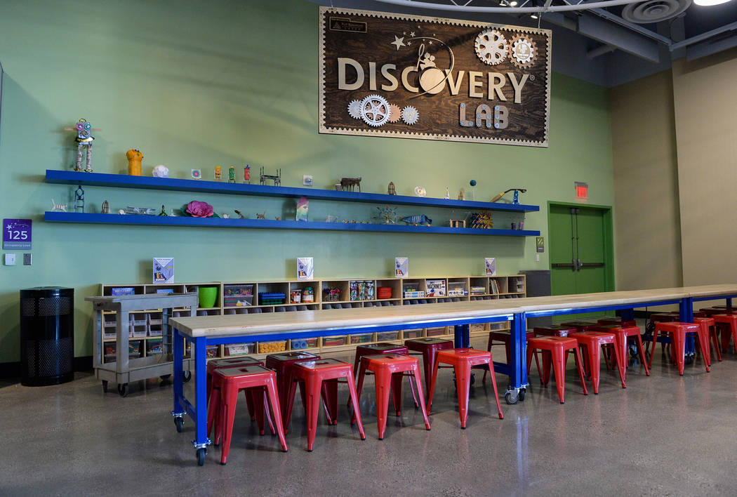 The Discovery Children's Museum gears up to open its new Discovery Lab at the museum in Las Vegas, Tuesday, Feb. 12, 2019. Caroline Brehman/Las Vegas Review-Journal