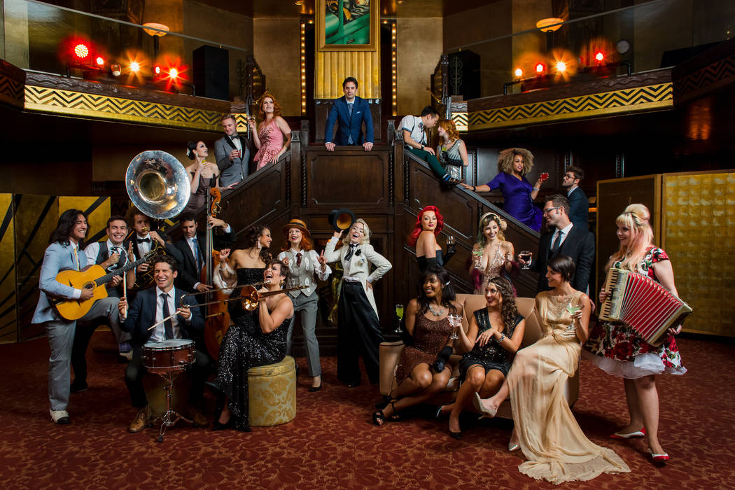 A promotional image of Scott Bradlee's Postmodern Jukebox, opening April 12 at 1Oak Nightclub at the Mirage. (Dana Lynn Pleasant)