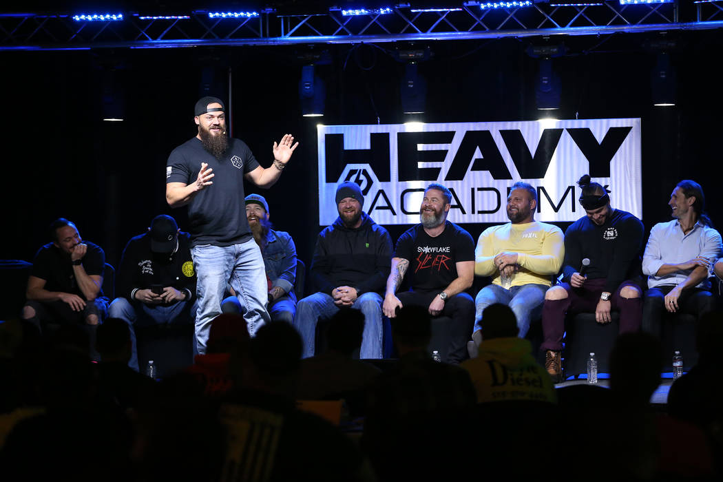 Dave Sparks, also known as Heavy D, speaks during the Heavy Academy event at The Industrial Event Space in Las Vegas, Friday, Feb. 15, 2019. (Erik Verduzco/Las Vegas Review-Journal) @Erik_Verduzco