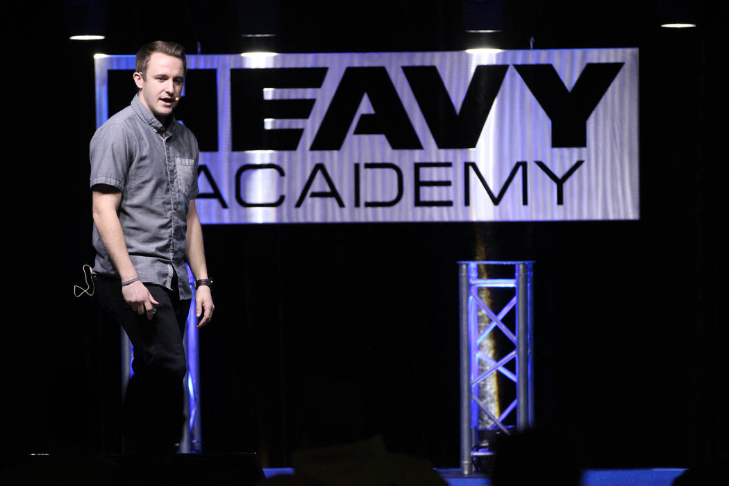 John Coyle talks about email marketing during the Heavy Academy event at The Industrial Event Space in Las Vegas, Friday, Feb. 15, 2019. (Erik Verduzco/Las Vegas Review-Journal) @Erik_Verduzco