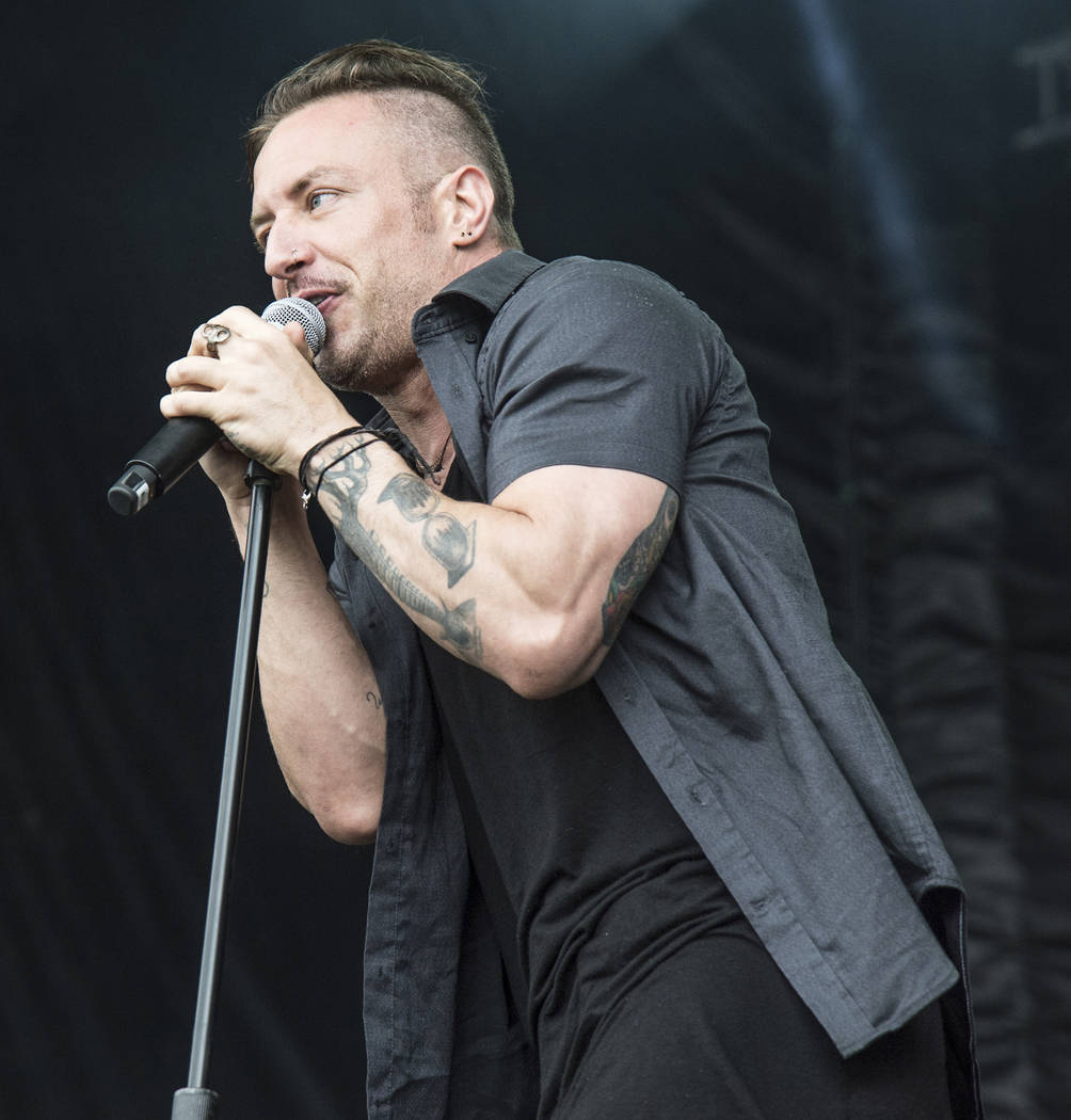 Greg Puciato of The Dillinger Escape Plan performs at Rock On The Range Music Festival on Sunday, May 21, 2017, in Columbus, Ohio. (Photo by Amy Harris/Invision/AP)