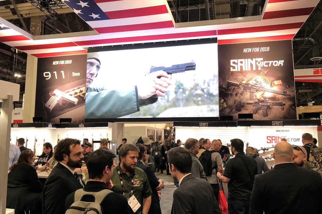 The 41st edition of the Shooting, Hunting and Outdoor Trade (SHOT) Show at the Sands Expo Center in Las Vegas, Tuesday, Jan. 22, 2019. (Las Vegas Review-Journal/Doug Nielsen)