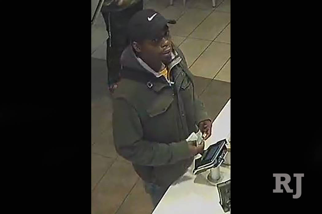 Las Vegas police are searching fora man suspected of attempting to rob a business on the 3000 block of South Maryland Parkway. (Las Vegas Metropolitan Police Department)