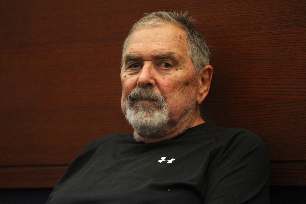 Marcel Chappuis appears in court for a court hearing at the Regional Justice Center in Las Vegas, Thursday, Feb. 14, 2019. Marcel Chappuis and his wife, Patricia, are operators of Northwest Academ ...