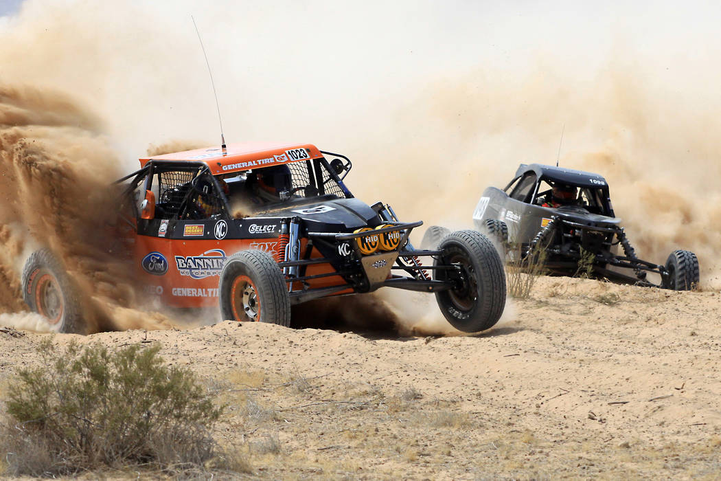 Competitors navigate the desert during the Mint 400 off-road race in Jean in 2012. (Las Vegas Review-Journal file)
