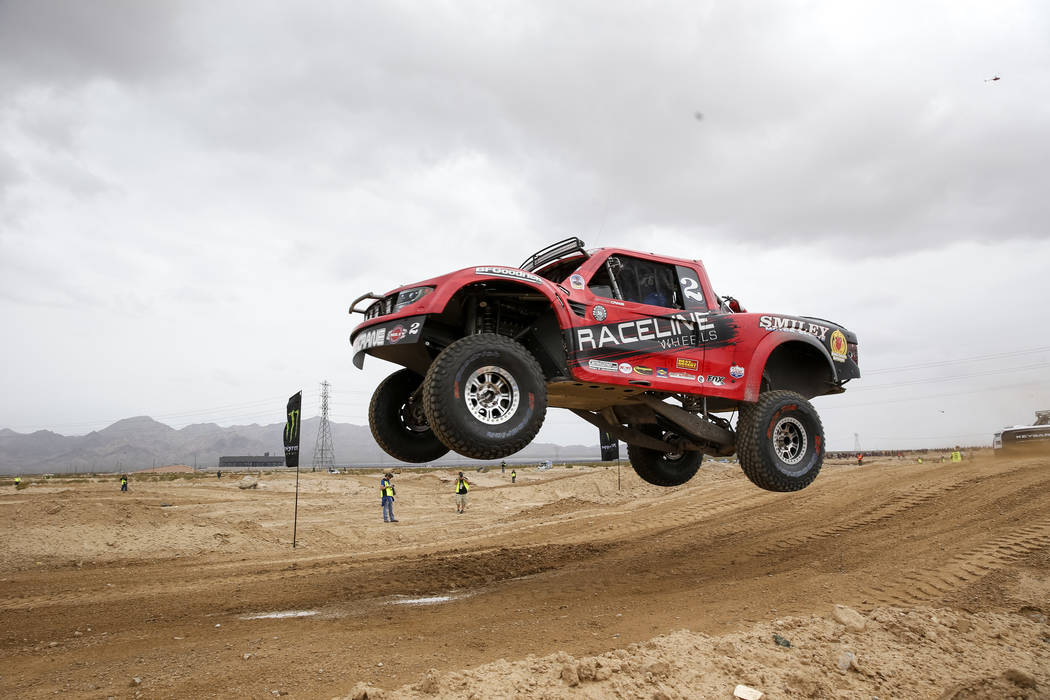 Participants compete in the Unlimited Race during the 50th Mint 400 in Primm on March 10, 2018. (Las Vegas Review-Journal file)