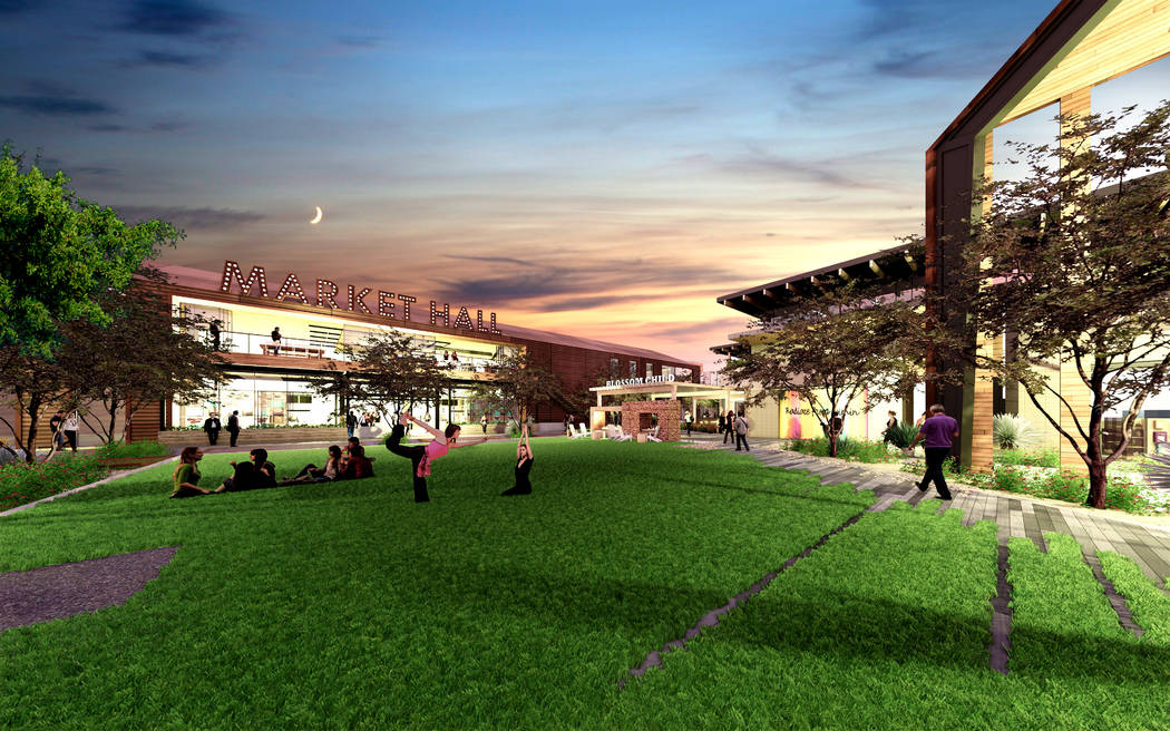 Matter Real Estate Group plans to develop UnCommons, a 40-acre mixed-use project, a rendering of which is seen here, at Durango Drive and the 215 Beltway in southwest Las Vegas. (Matter Real Estat ...