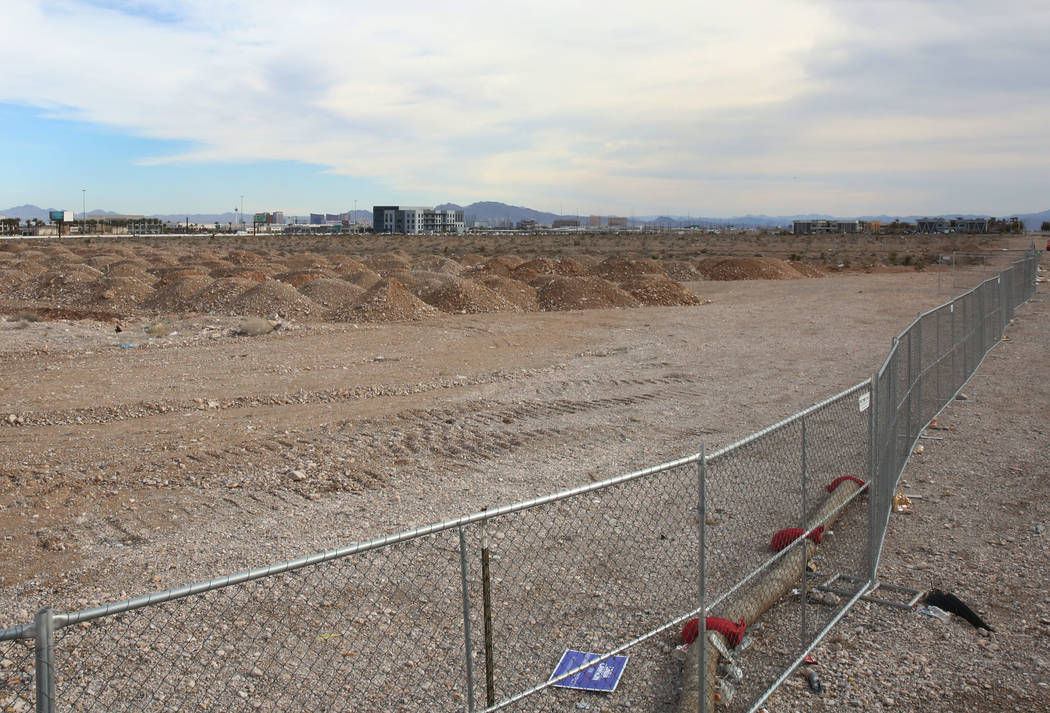 A vacant lot where Matter Real Estate Group plans to build a $400 million mixed-use project on about 40 acres at the southeast corner of Durango and 215 in the southwest valley, Friday, Feb. 15, 2 ...
