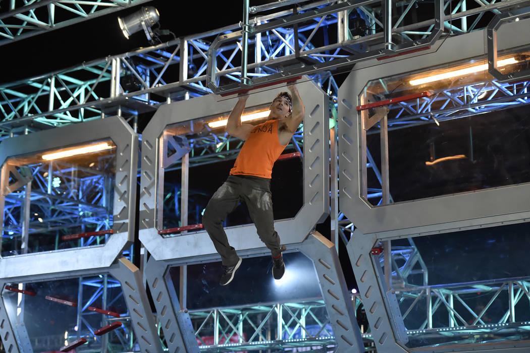 """American Ninja Warrior"" -- ""Las Vegas Season Finale"" Episode 1015 -- Pictured: Drew Drechsel -- (David Becker/NBC)"