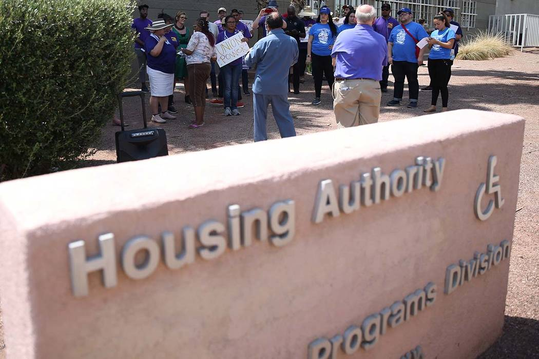 Southern Nevada Regional Housing Authority will receive more than $600,000 in a federal grant for housing assistance in Clark County. (Erik Verduzco/Las Vegas Review-Journal) @Erik_Verduzco