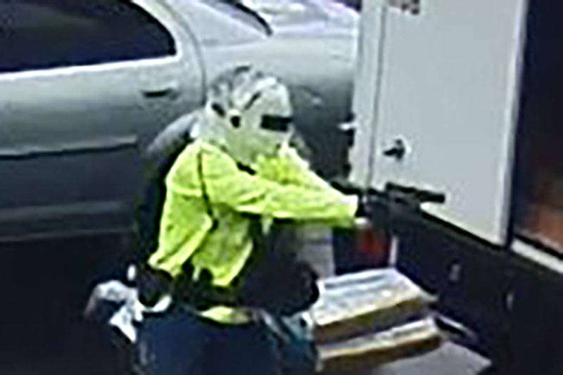 Las Vegas police are looking for a man suspected of an armed robbery Thursday morning on the 8600 block of West Tropicana Avenue. (Las Vegas Metropolitan Police Department)