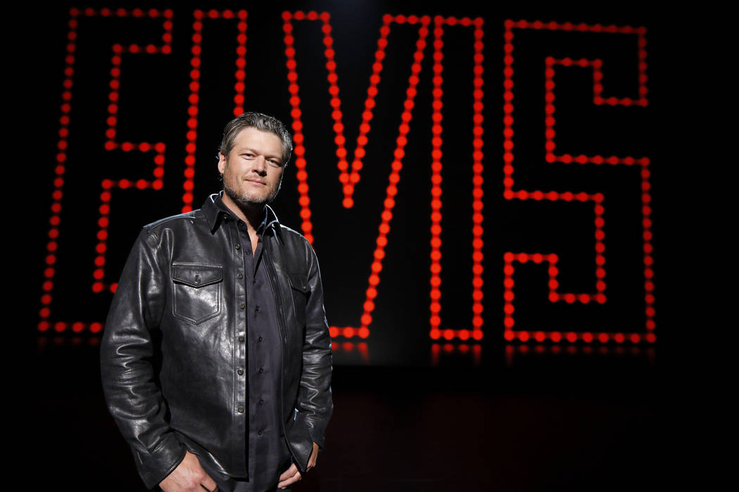 "ELVIS ALL-STAR TRIBUTE -- ""Show"" -- Pictured: Blake Shelton -- (Photo by: Trae Patton/NBC)"