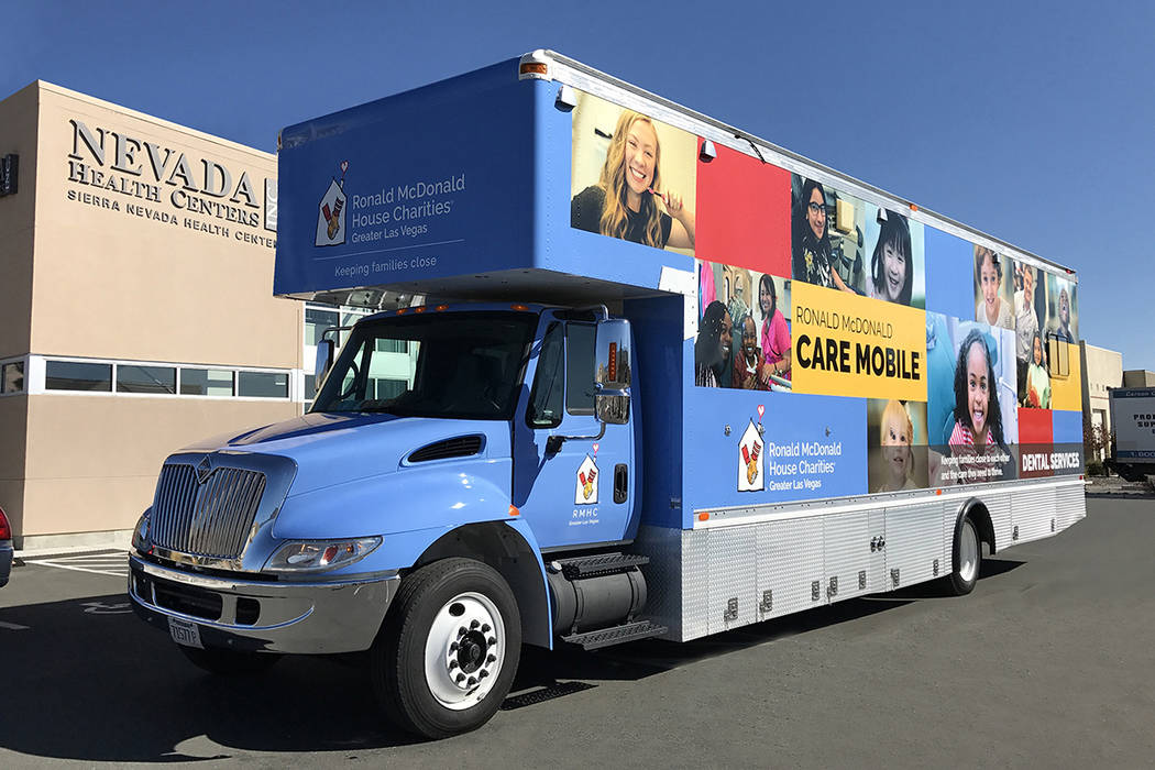 The Ronald McDonald Care Mobile will offer affordable pediatric dental care at three Nevada Health Centers locations this month. (Nevada Health Centers)