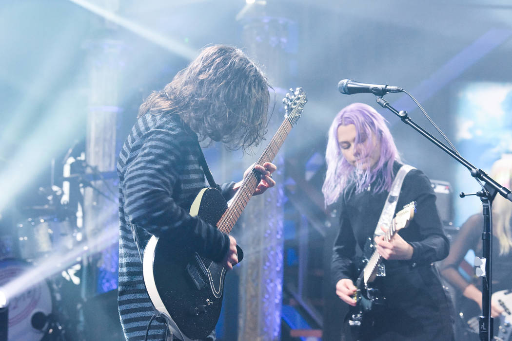 The Late Show with Stephen Colbert and guest Better Oblivion Community Center during Wednesday's January 23, 2019 show. Photo: Scott Kowalchyk/CBS ©2019 CBS Broadcasting Inc ...