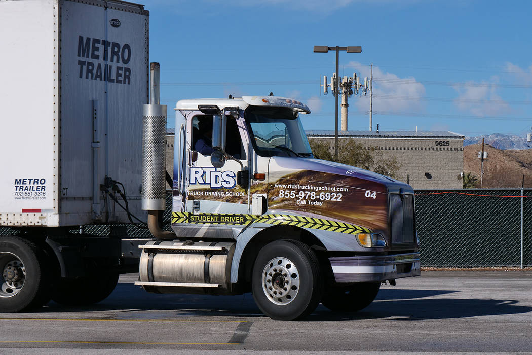 Southwest Las Vegas A Training Ground For Some Truck Drivers