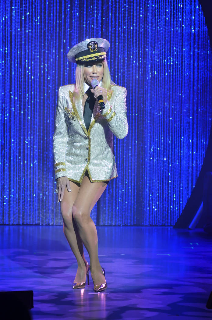 Suzanne Somers performs during a dress rehearsal for her cabaret show at the Westgate Las Vegas hotel-casino at 3000 Paradise Road in Las Vegas on Friday, May 22, 2015. (Bill Hughes/Las Vegas Revi ...