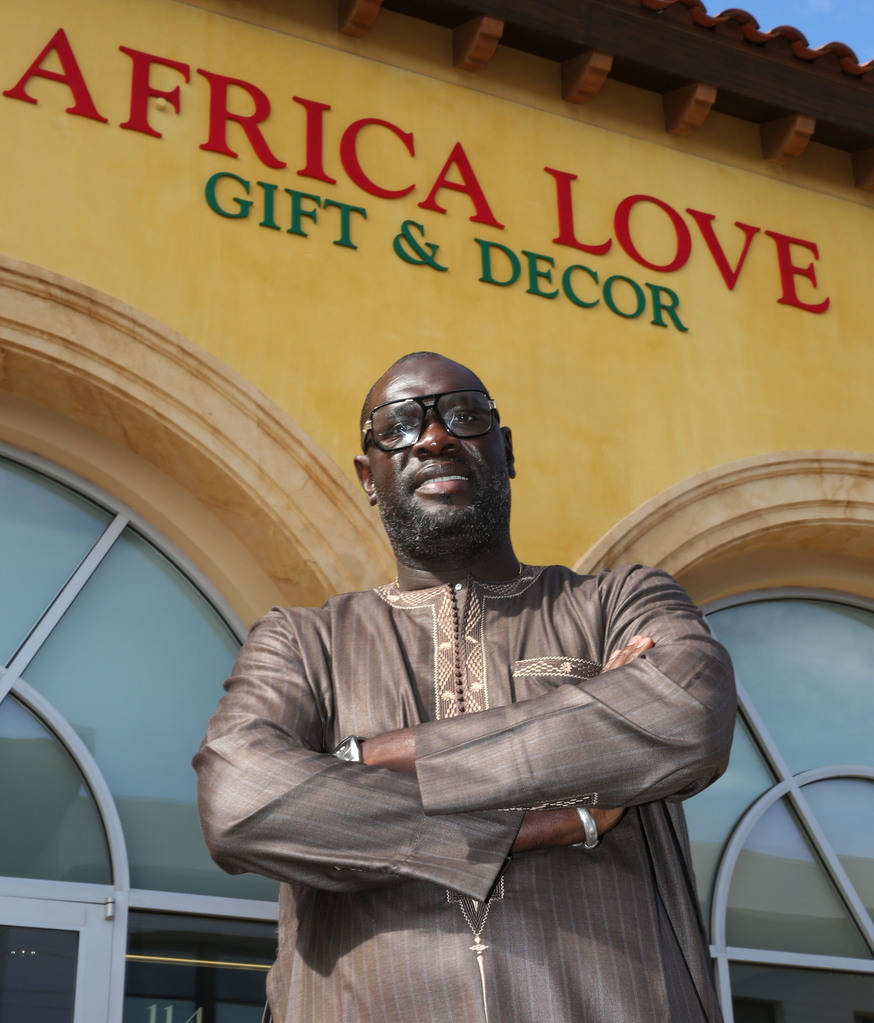 Mara Diakhate, owner of Africa Love, gift and decor store, at Town Square poses for a photo on Friday, Feb. 15, 2019, in Las Vegas. (Bizuayehu Tesfaye/Las Vegas Review-Journal) @bizutesfaye