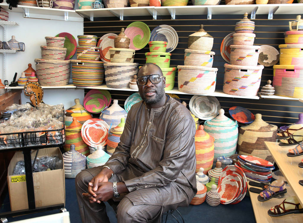 Mara Diakhate, owner of Africa Love, gift and decor store, at Town Square poses for a photo at his store on Friday, Feb. 15, 2019, in Las Vegas. (Bizuayehu Tesfaye/Las Vegas Review-Journal) @bizut ...