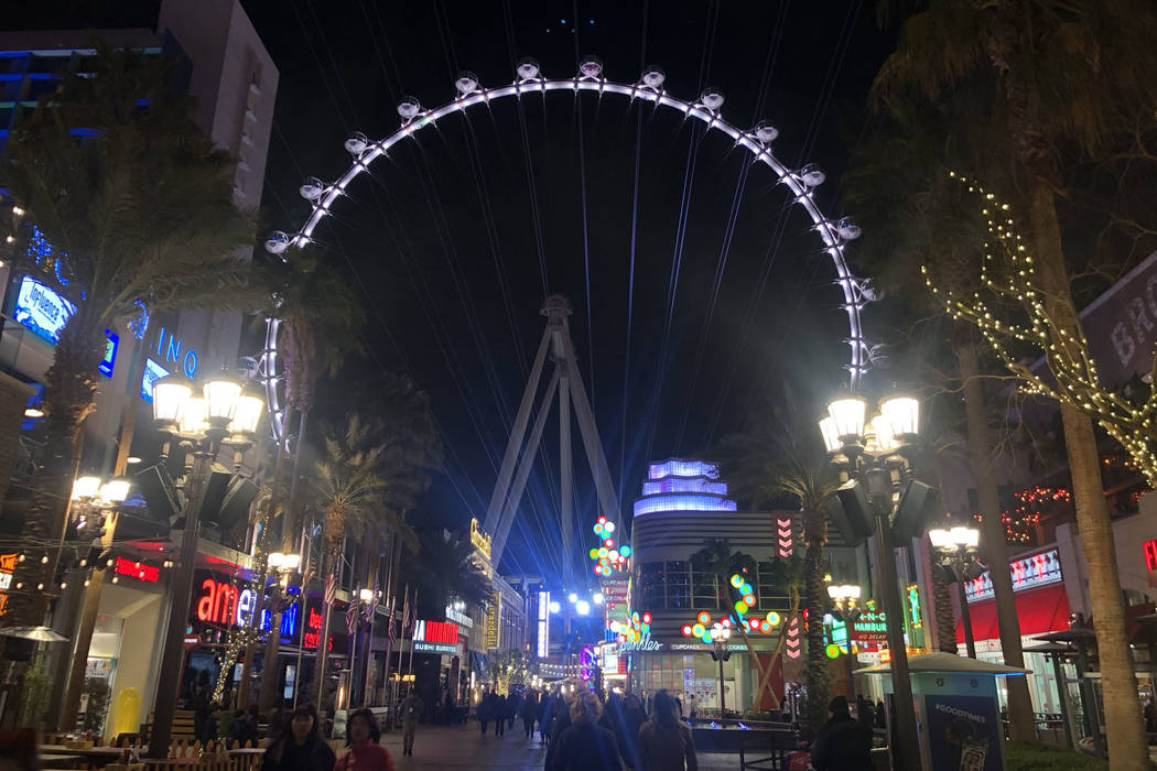 The High Roller at The Linq Hotel on the Las Vegas Strip is seen on Friday, Feb. 15, 2019. (Katelyn Newberg/Las Vegas Review-Journal)