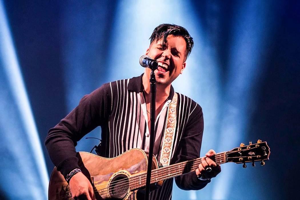 Singer Frankie Moreno. (Benjamin Hager/Las Vegas Review-Journal)